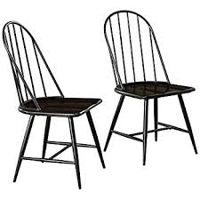 High Back Windsor Armchair Amazon Com Winsome Wood Assembled 36 Inch Windsor Chairs With