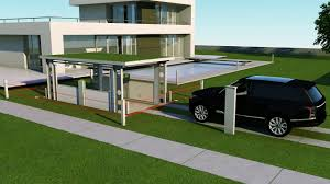 house car parking design idealpark car lift invisible solution for private house youtube