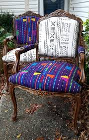 dining chairs mudcloth chairs redone retro fabric dining chairs
