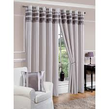 denver faux silk fully lined silver eyelet curtains