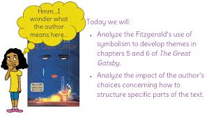four symbols in the great gatsby lesson 22 analyzing fitzgerald s use of symbols in developing