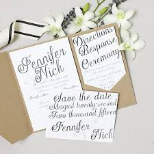 basic invite wedding invitations for design lovers on a budget