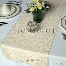 gold lace wedding table runner