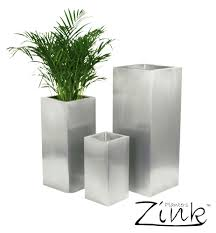 Large Planter Pot extra large plant pot 80 nice decorating with zinc silver steel