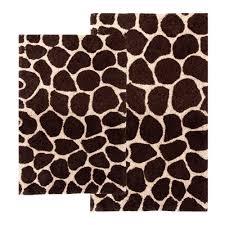 Contemporary Bathroom Rugs Amazon Com Chesapeake 2 Piece Giraffe 21 Inch By 34 Inch And 24