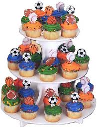 sports cake toppers cupcake toppers on sports party world