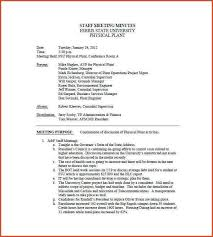 minutes of meeting staff meeting minutes template example jpg