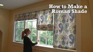 How To Measure Windows For Curtains by How To Make A Roman Shade Youtube