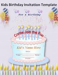 birthday invitation templates free download badbrya com