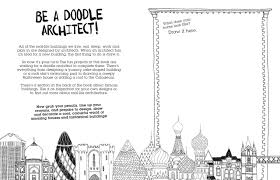 make buildings a doodle design activity book charlotte farmer