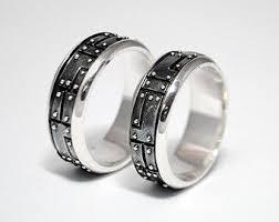 Alternative Wedding Rings by Sterling Silver Industrial Wedding Rings