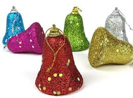 colorful bell tree decoration hangings 6cm
