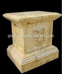 Pedestal Manufacturers Buy Beige Marble Pedestal From Trusted Beige Marble Pedestal