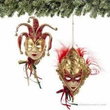 4 venetian mask w flat disc ornaments kurt adler birthday