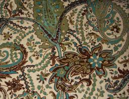 Pier One Paisley Curtains by Threshold Paisley Green Teal Blue Cream Brown Fabric Shower