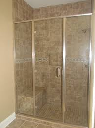 bathroom cool tiled showers with shower bench and shower nook