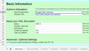 Spreadsheet Tutorial Mapping From A Spreadsheet Earth Outreach
