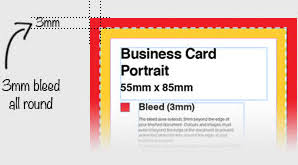 Bleed For Business Cards Print Bleed 3mm Bleed What Is Bleed In Printing