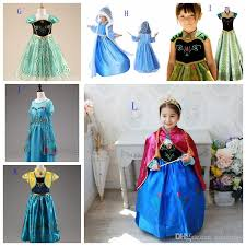 Anna Frozen Costume Discount Wholesale Girls Frozen Dresses Elsa Anna Cosplay