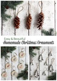 3 easy and beautiful homemade christmas ornaments