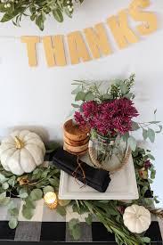 thanksgiving sideboard decor entertaining ideas