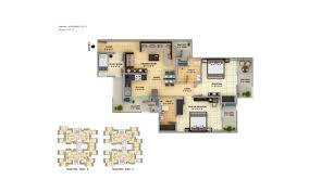 floor plan of gaur cascades raj nagar extention ghaziabad
