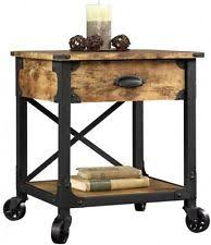 Pine Side Table Rustic Country Side Table Antiqued Black Pine End Wood Accent