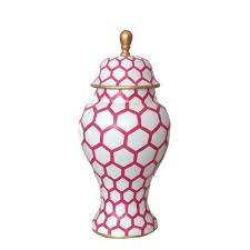 Ginger Jar Vase Ginger Jar Small In Pink Mesh Danagibson