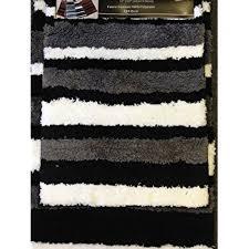 Maroon Bath Rugs Amazon Com 2 Piece Microfiber Bath Rug Set Modern Stripe Pattern
