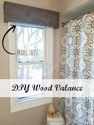 bathroom valance ideas diy wood valance an inexpensive and easy window treatment