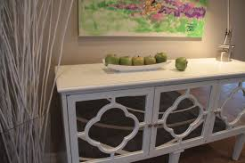 Hallway Console Table And Mirror White Hallway Console Table With Mirrored Quatrefoil Detail