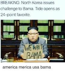 Korea Meme - breaking north korea issues challenge to bama tide opens as 24 point