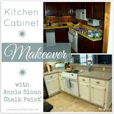 How To Paint Kitchen Countertops by Kitchen Cabinet Makeover Annie Sloan Chalk Paint Artsy