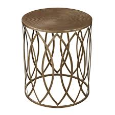 small gold side table accent table with storage house decorations