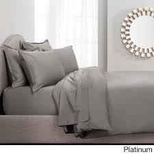 italian gray sateen chambray duvet cover