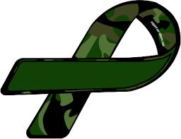 camouflage ribbon custom ribbon camo green