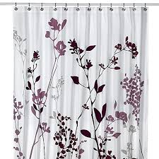 Curtains In Bed Bath And Beyond Reflections Purple Fabric Shower Curtain Bed Bath Beyond