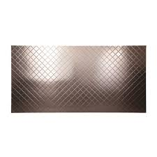 Decorative Paneling Home Depot Fasade 96 In X 48 In Quilted Decorative Wall Panel In Brushed