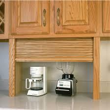 garage door for kitchen cabinet appliance garage wood tambour kitchen appliance