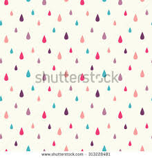 vector pattern rain drops seamless cute stock vector 555271645