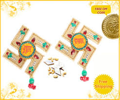 Swastik Decoration Pictures Swastik Shubh Labh Decoration Sweet Mithai Kaju Katli Send Diwali
