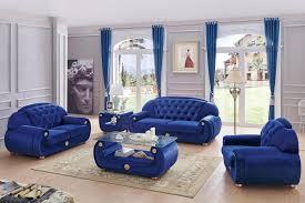 Living Room Blue Sofa by Giza Blue Sofa Giza Esf Furniture Fabric Sofas At Comfyco Com