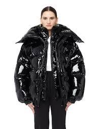 vetements miss webcam vinyl puffer jacket svmoscow