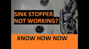 how to adjust a bathroom sink stopper youtube