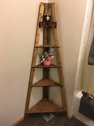 Corner Ladder Bookcase Diy Bathroom Corner Ladder Shelf Houses Pinterest Corner