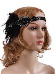 gatsby headband beaded great gatsby headband feathers blossom costumes