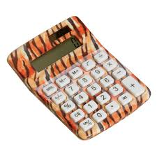 zebra print desk accessories amazon com tiger animal print calculator office desk
