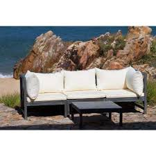 Outdoor Sofa With Chaise Outdoor Sectionals Outdoor Lounge Furniture The Home Depot