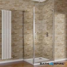 Shower Enclosure Bathroom Suites 1000x760mm 8mm Glass Easyclean Hinged Door Corner Shower