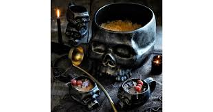 halloween skull punch bowl 80 williams sonoma halloween decor